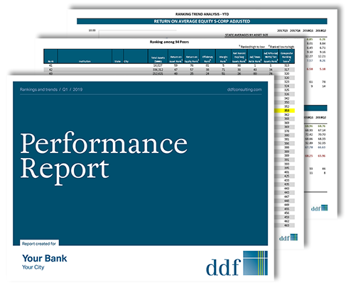sample Bank Performance Report pages