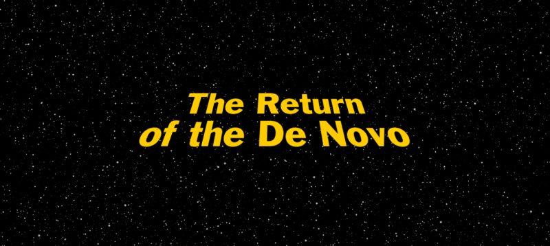 Return of the Jedo-themed graphic for blog post Return of the De Novo