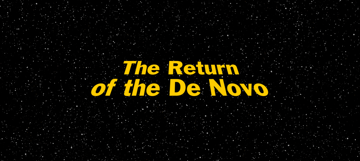 Return of the Jedo-themed graphic for blog post Return of the De Novo