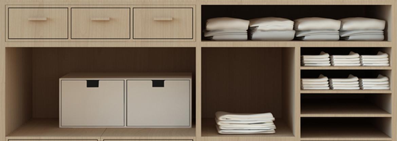 Tidy closet compartments