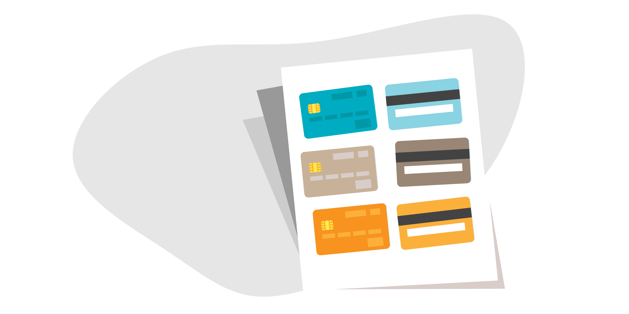 Copies of credit cards illustration