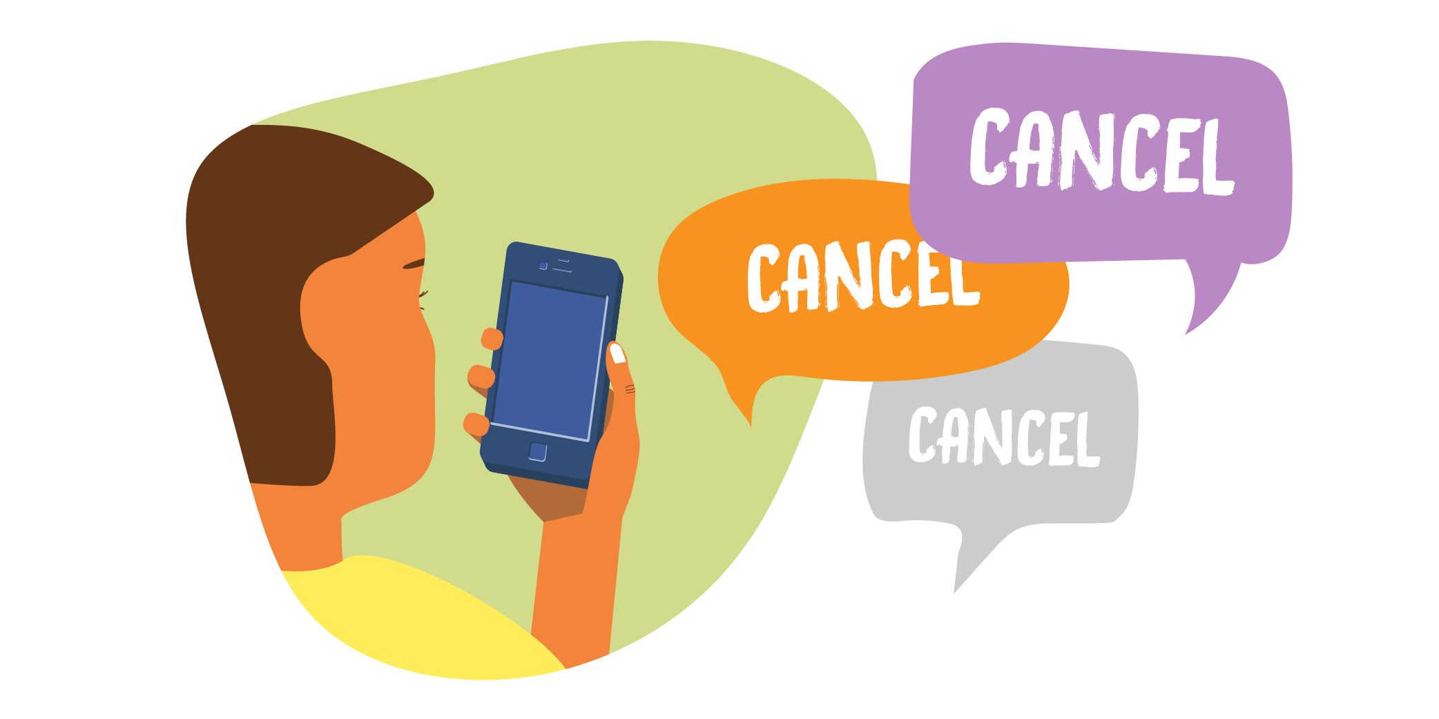 Cancel credit cards illustration